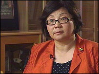 Kyrgyzstan's Foreign Minister Rosa Otunbayeva