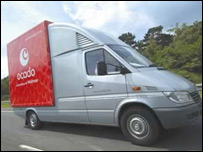 Ocado orders being delivered