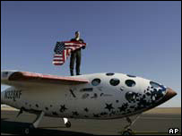 X-Prize winner SpaceShipOne, AP