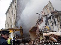 Scene of the blast in Mulhouse