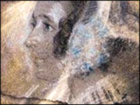 Detail of portrait of Charlotte Bronte