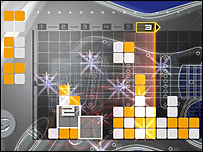 Screenshot from Lumines