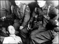 William Joyce is captured by British soldiers in 1945