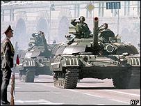 Military parade in Kiev, 1999