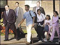 John Prescott with the Patel family