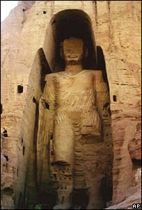 The Buddhas statues of Bamiyan, destroyed in 2001