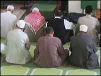 Muslim men at a mosque