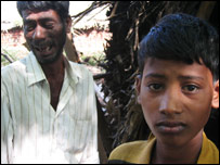 Shanmugham and his son, Anandraju, from the Tamil Nadu state in southern India