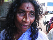 Kanammal, a resident of Tamil Nadu, India, in shock after losing her husband.
