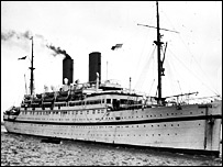 Empire Windrush which brought first wave of Caribbean immigrants in 1950s