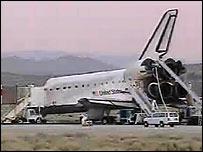 Shuttle at Edwards Air Force Base, Nasa