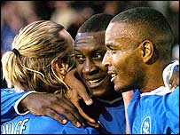 Robbie Savage (left), Emile Heskey (middle) and Clinton Morrison