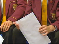 Pupil with envelope