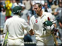 Ricky Ponting and Matthew Hayden