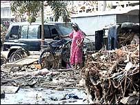 Devastación producida tras el terremoto en el Océano Índico