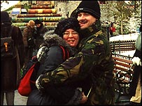 Donna and Peter Mahoney after his return from Iraq (Courtesy of Donna Mahoney)