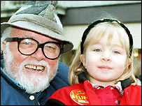 Lord Attenborough with granddaughter Lucy Holland, then aged 5