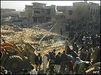 Scene of Ghazalia blast