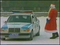 'Santa' consults his colleagues