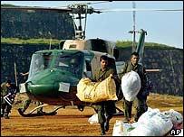 Aid arrives in Galle, Sri Lanka, on Wednesday