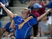 Fernando Ricksen scored Rangers' second goal