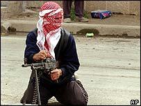 Insurgents in Ramadi, February 2005