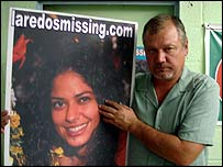 William Sleamaker with poster of Yvette Martinez
