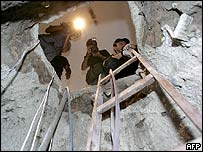 Tunnel used by Brazil bank robbers