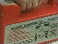 A defibrillator
