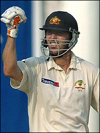 Martyn after scoring a vital century to help win the Nagpur Test