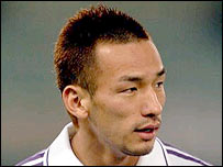 Japanese midfielder Hidetoshi Nakata