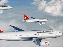 Indian Airlines planes