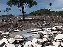 Scene of devastation in Aceh