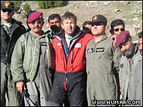 Tomaz Humar, after being rescued from Nanga Parbat