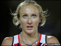Paula Radcliffe after the World Championship 10,000m