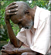 Sri Lankan man mourns his loss