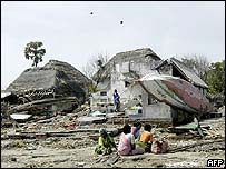 Devastated beach in Tamil Nadu