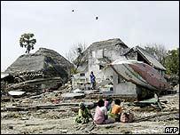 Devastated beach in Tamil Nadu