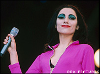 PJ Harvey at Glastonbury in 1995
