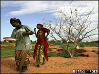 Nigerois women performing rain dance in the village of Sadongori Kolita near Maradi, Niger.