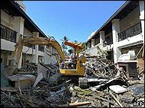 Devastated Sofitel Hotel, Khao Lak resort