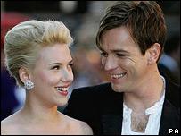 Scarlett Johansson and Ewan McGregor at the UK premiere
