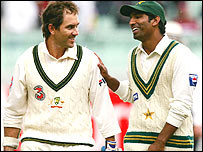 Justin Langer and Yousuf Youhana