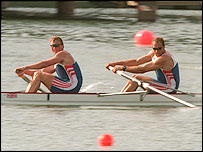 Pinsent and Redgrave compete at the 1996 Olympics in Atlanta