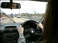 Image of a person driving