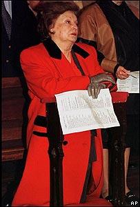 Lucía Hiriart de Pinochet.