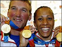 Matthew Pinsent and Kelly Holmes