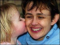 Tanni Grey-Thompson with daughter Carys