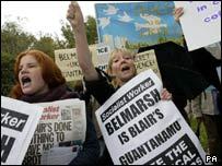 Belmarsh protesters