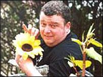 BBC Radio Wales' Chris Needs in his garden